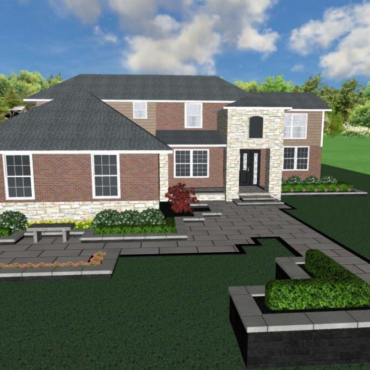 Front Entrance and Driveways